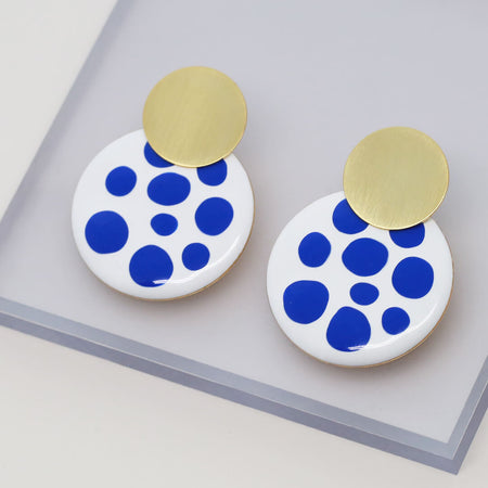 Ana-Luisa-Earrings-Hoop Earrings-Kinoko-Gold-Blue