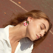 Ana Luisa Earrings Hoop Earrings Kinoko Enamel Gold Red