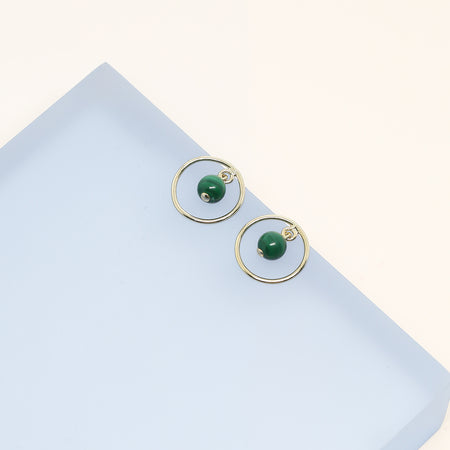 Ana-Luisa-Earrings-Studs-Delicate-Earrings-Cleo-Malachite-Gold