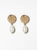 Ana Luisa Earrings Drop Earrings Astro Pearl Earrings Moon Gold