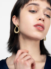 Ana Luisa Earrings Hoop Earrings Door Knocker Earrings Nikki Gold