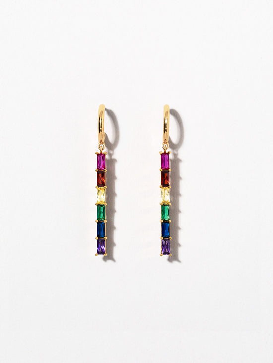 Ana Luisa Earrings Hoop Earrings Drop Earrings Pride Earrings Prism Silver