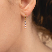 Linear Drop Earrings - Isabella Trio Pastel