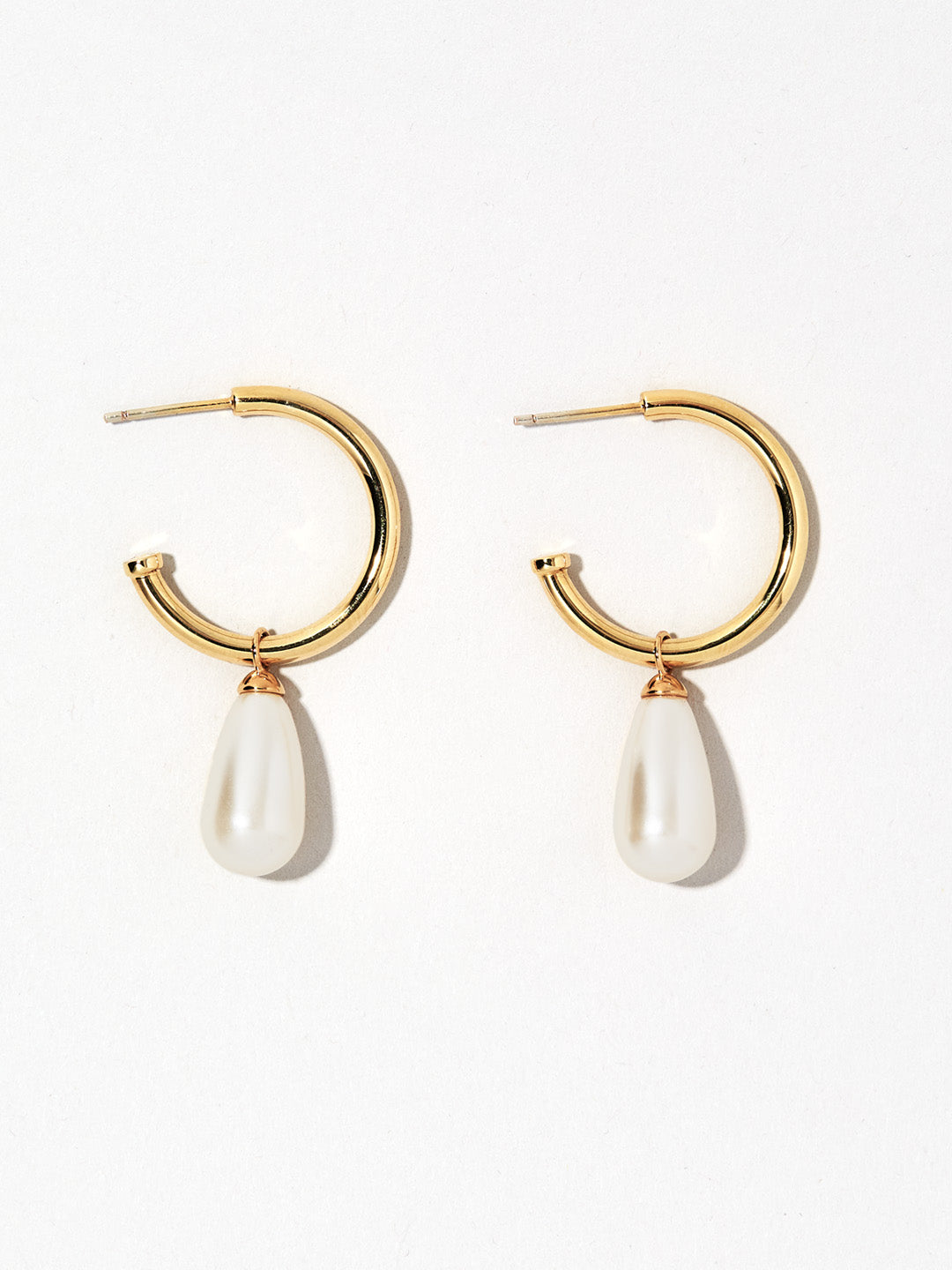 Ana Luisa Earrings Hoop Earrings Pearl Hoop Earrings M.I.M. Mel Gold