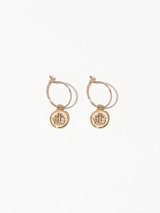Ana Luisa Earrings Hoop Earrings Zodiac Jewelry Aquarius Hoop Earrings Gold