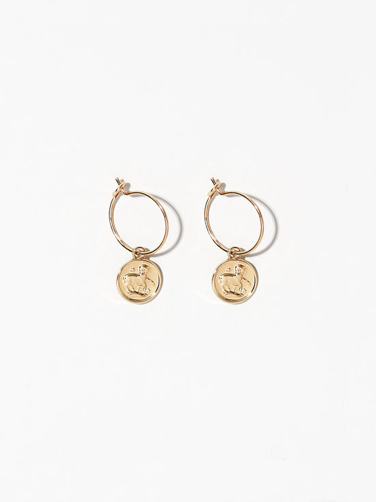 Ana Luisa Earrings Hoop Earrings Zodiac Jewelry Aries Hoop Earrings Gold