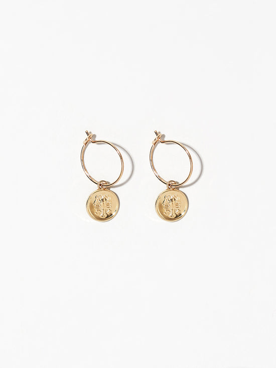 Ana Luisa Earrings  Hoop Earrings Zodiac Jewelry Cancer Hoop Earrings Gold