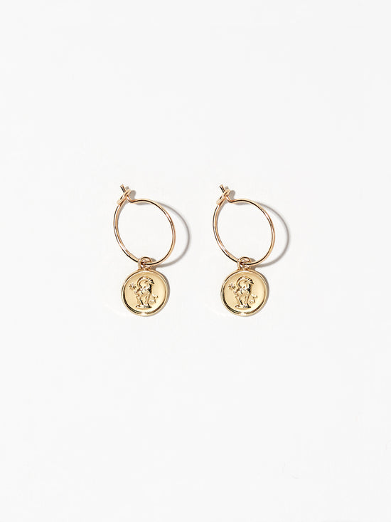 Ana Luisa Earrings Hoop Earrings Zodiac Jewelry Capricorn Hoop Earrings Gold