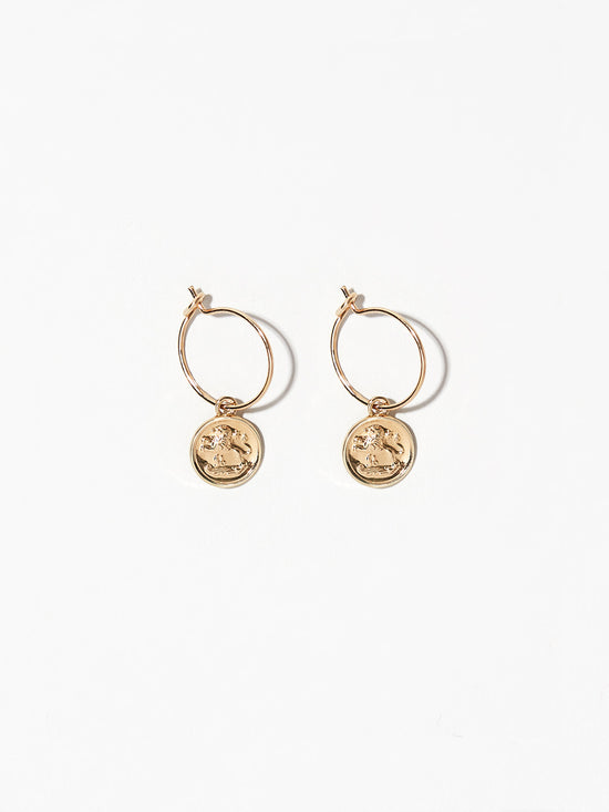 Ana Luisa Earrings Hoop Earrings Zodiac Jewelry Leo Hoop Earrings Gold