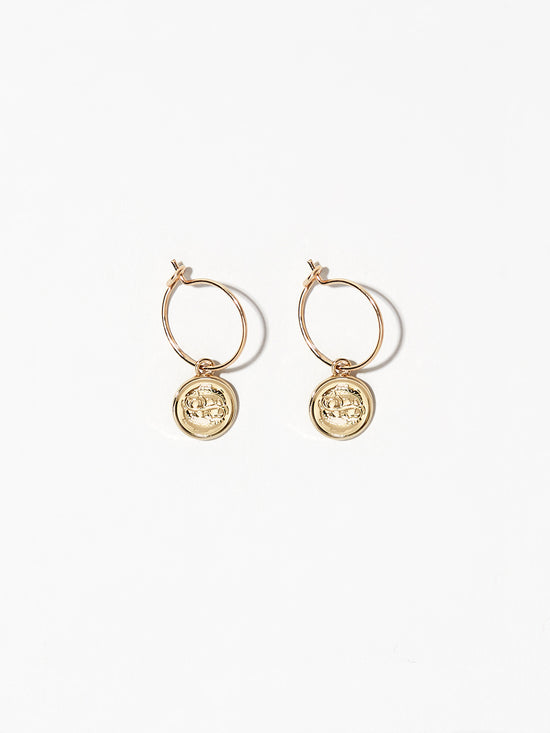 Ana Luisa Earrings Hoop Earrings Zodiac Jewelry Pisces Hoop Earrings Gold