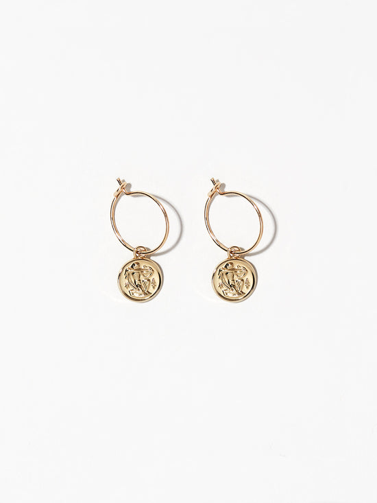 Ana Luisa Earrings Hoop Earrings Zodiac Jewelry Sagittarius Hoop Earrings Gold