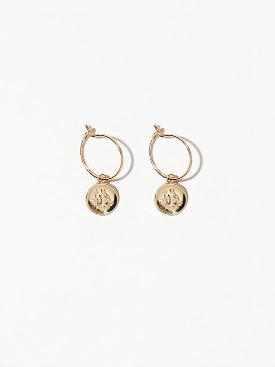 Ana Luisa Earrings  Hoop Earrings Zodiac Jewelry Virgo Hoop Earrings Gold