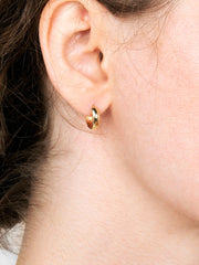 14K Gold Hoop Earrings - Huggie Hoops