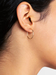 14K Gold Hoop Earrings - Medium Hoops