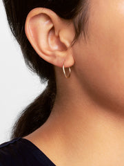 14K Gold Hoop Earrings - Small Hoops