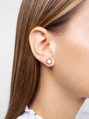 Ana Luisa Earrings Sruds Delicate Earrings Lacquer Studs Polka Off White Gold