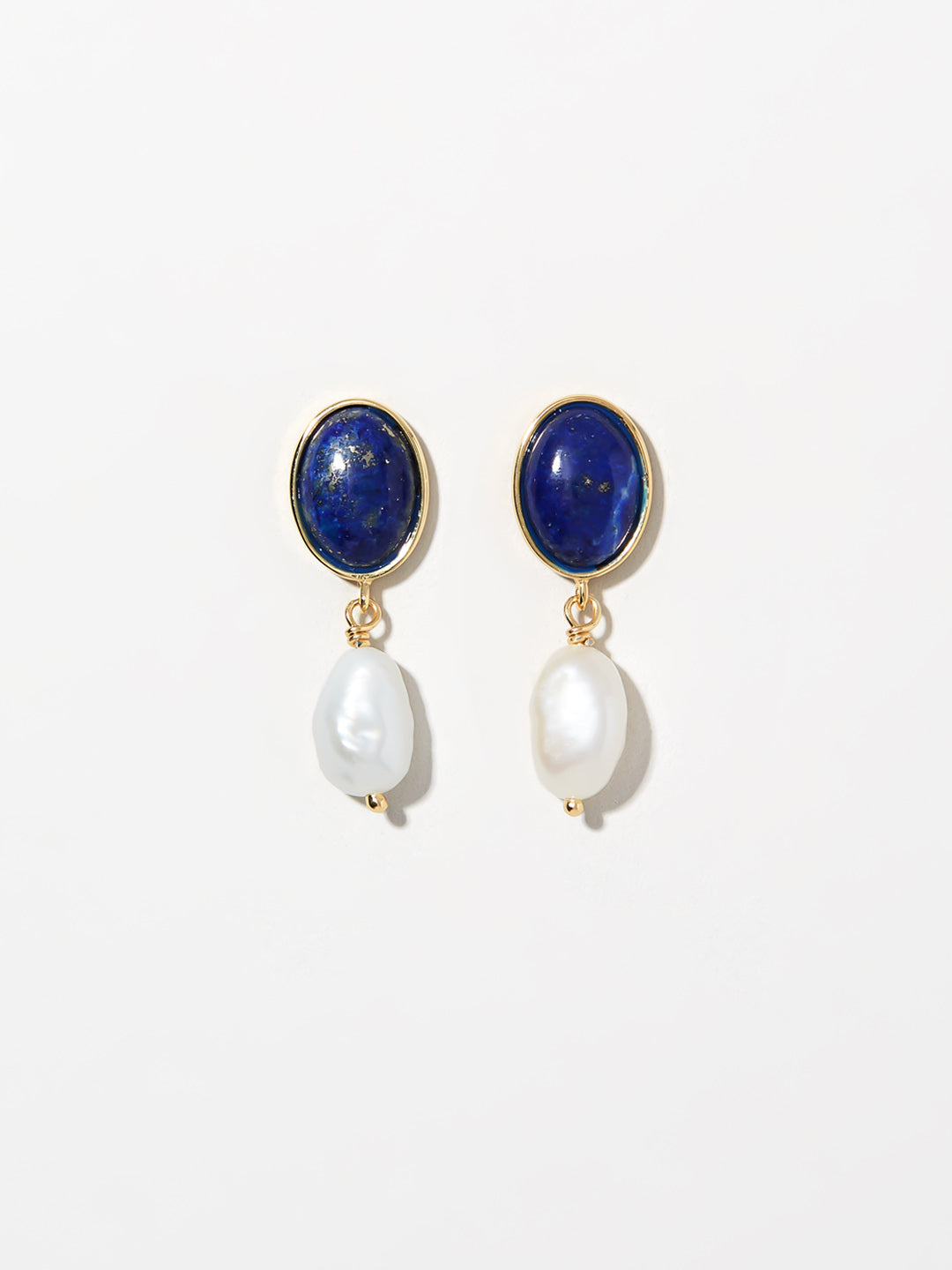 Ana Luisa Earrings Statement Earrings Pearl Drop Earrings Azul Sterling Silver Gold