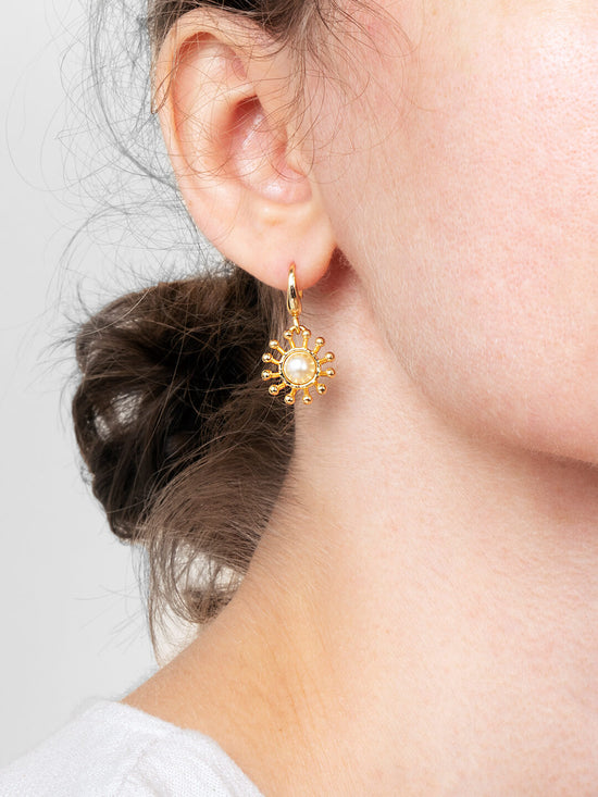 Ana Luisa Earrings Studs Delicate Earrings Pearl Drop Earrings Sandro Gold
