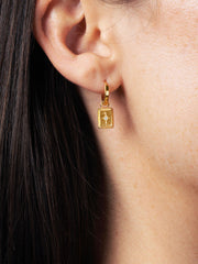 Ana Luisa Earrings Studs Earrings Talisman Huggie Hoops Cruz Gold