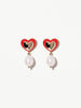 Ana Luisa Jewelry Earring Statement Earrings Red Heart Earrings Euodias Gold