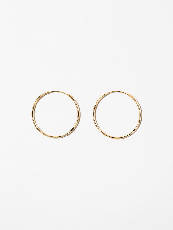 Ana Luisa  Jewelry Earrings Hoop Earrings 14K Gold Hoop Earrings Medium Hoops