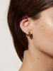Ana Luisa Jewelry Earrings Hoop Earrings Stone Inlay Hoops Camille Gold