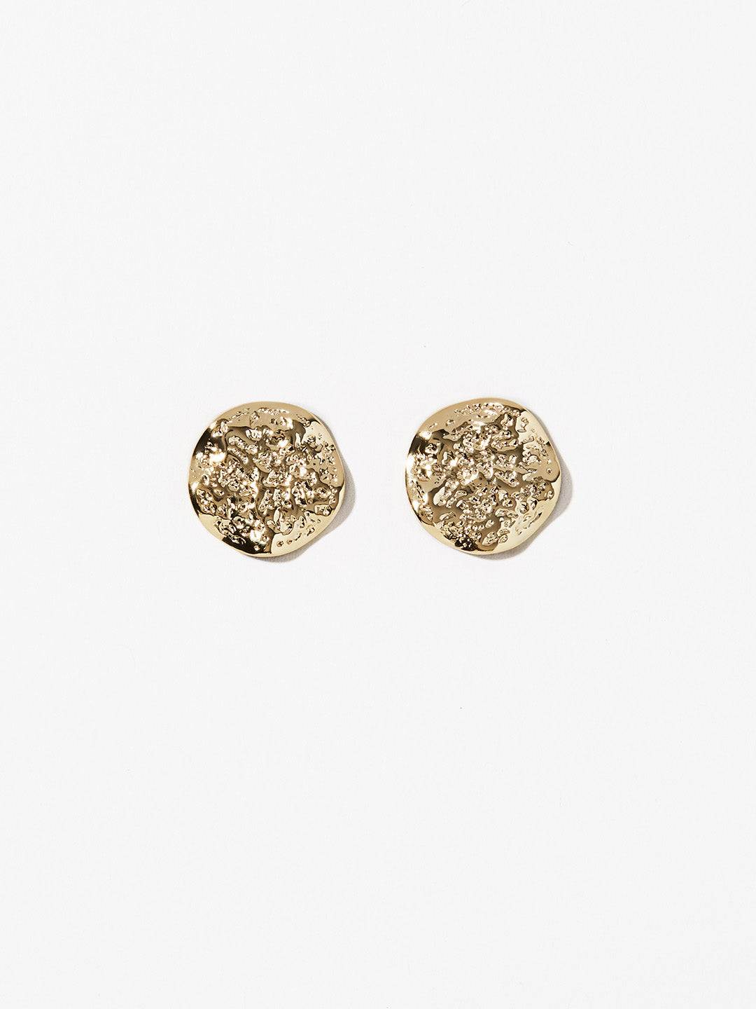 Ana Luisa Jewelry Earrings Studs Earrings Textured Coin Studs Lina Gold