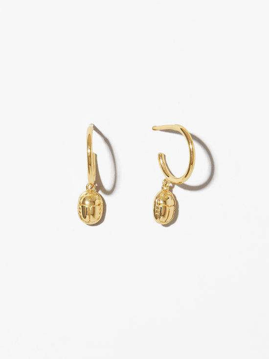 Ana Luisa Jewelry Hoop Earrings Scarab Jewelry Scarab Gold