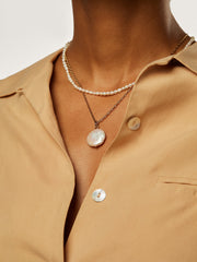 Ana Luisa Jewelry Layered Necklace Fresh Water Pearl Necklace Mist Set Gold