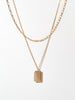 Ana Luisa Necklace Layered Necklaces Dog Tag Necklace Set Ivy Gold