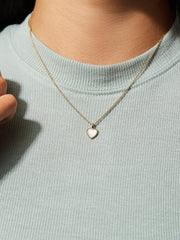 Ana Luisa Jewelry Necklaces Co-Creation Kelly Youjin Kim Moonstone Necklace Heart Moonstone Gold