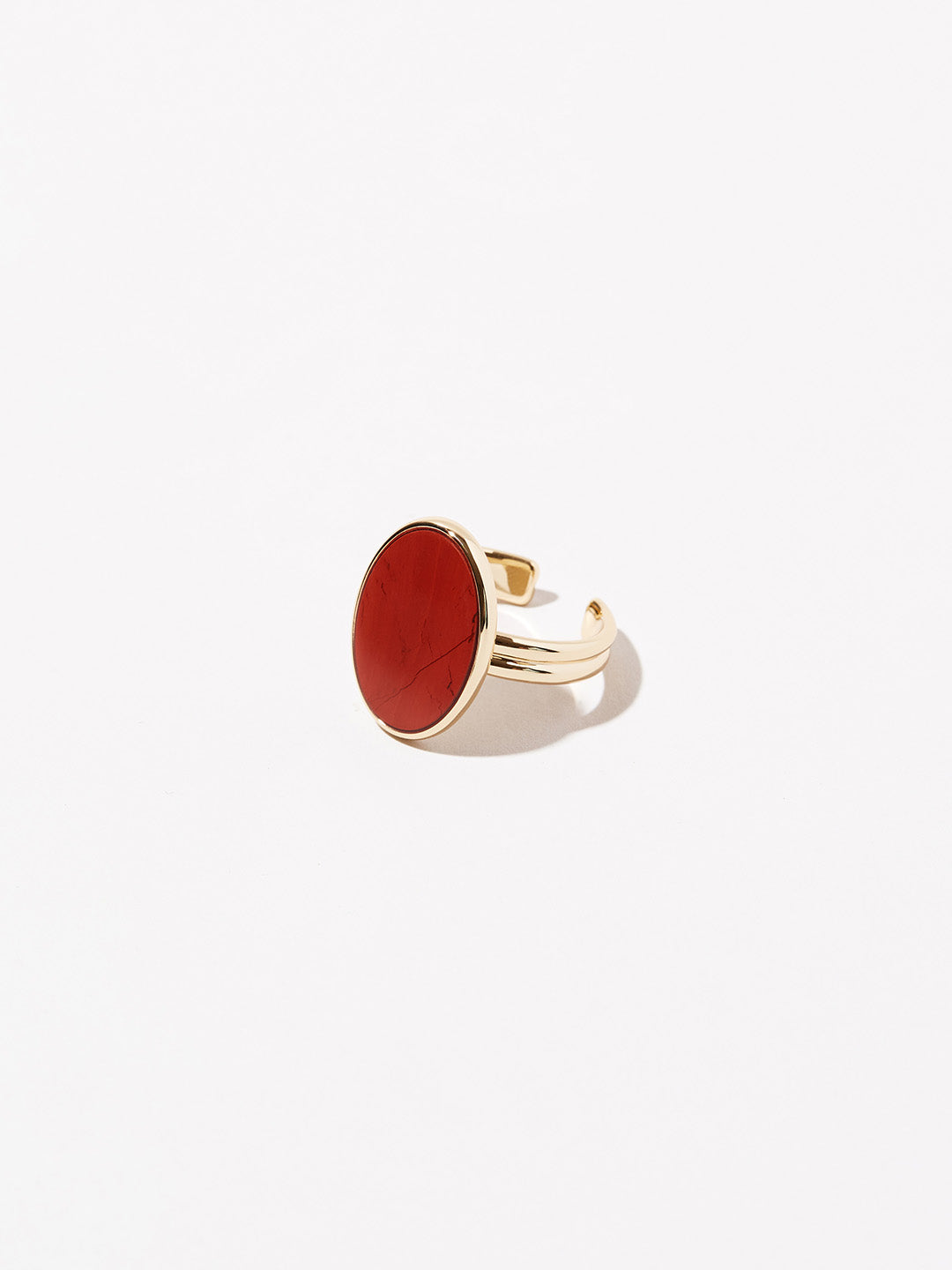 Ana Luisa Jewelry Rings Gemstone Ring Oval Stone Ring Mara Red Jasper Gold