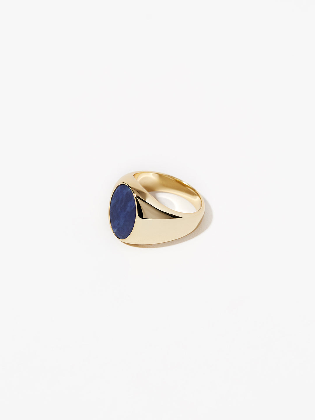 Ana Luisa Jewelry Rings Oval Signet Ring Madison Blue Gold
