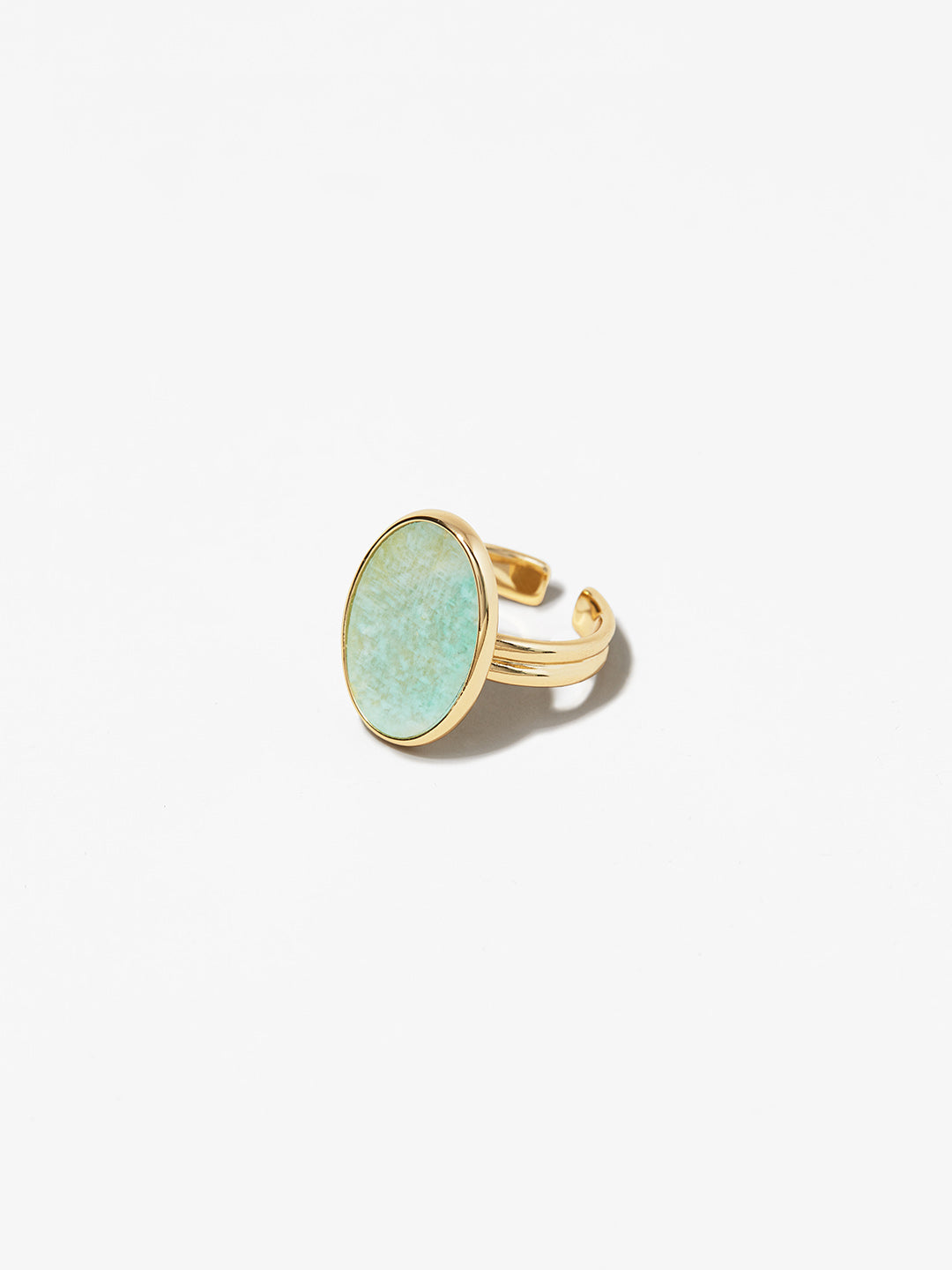 Ana Luisa Jewelry Rings Oval Stone Ring Mara Amazonite Gold