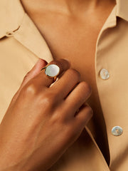 Ana Luisa Jewelry Rings Oval Stone Ring Mara Pearl Gold