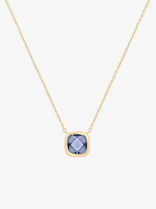 Ana Luisa Necklace Pendant Necklace Stone Necklace Palace Deep Blue Gold