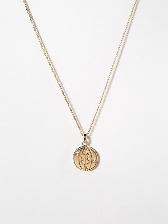 Ana Luisa Necklace Pendat Necklace Astro Coin Necklace Sun Gold