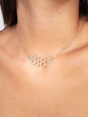 Honeycomb Gold Necklace - Emzotic