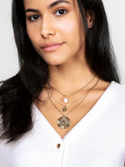 Ana Luisa Necklaces Layered Necklaces Pearl Layered Necklace Set Tilda