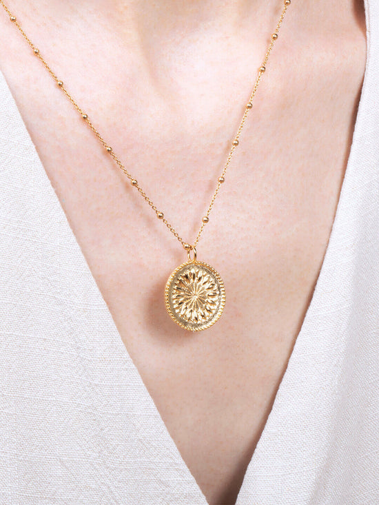 Flower Coin Necklace - Plato
