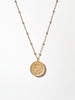 Ana Luisa Necklaces Pendant Necklaces Flower Coin Necklace Plato Gold