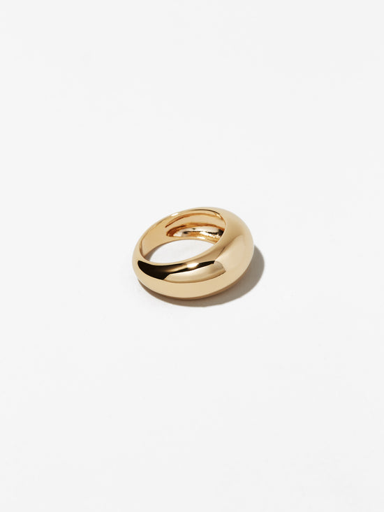 Ana Luisa Rings Band Gold Dome Ring Noa