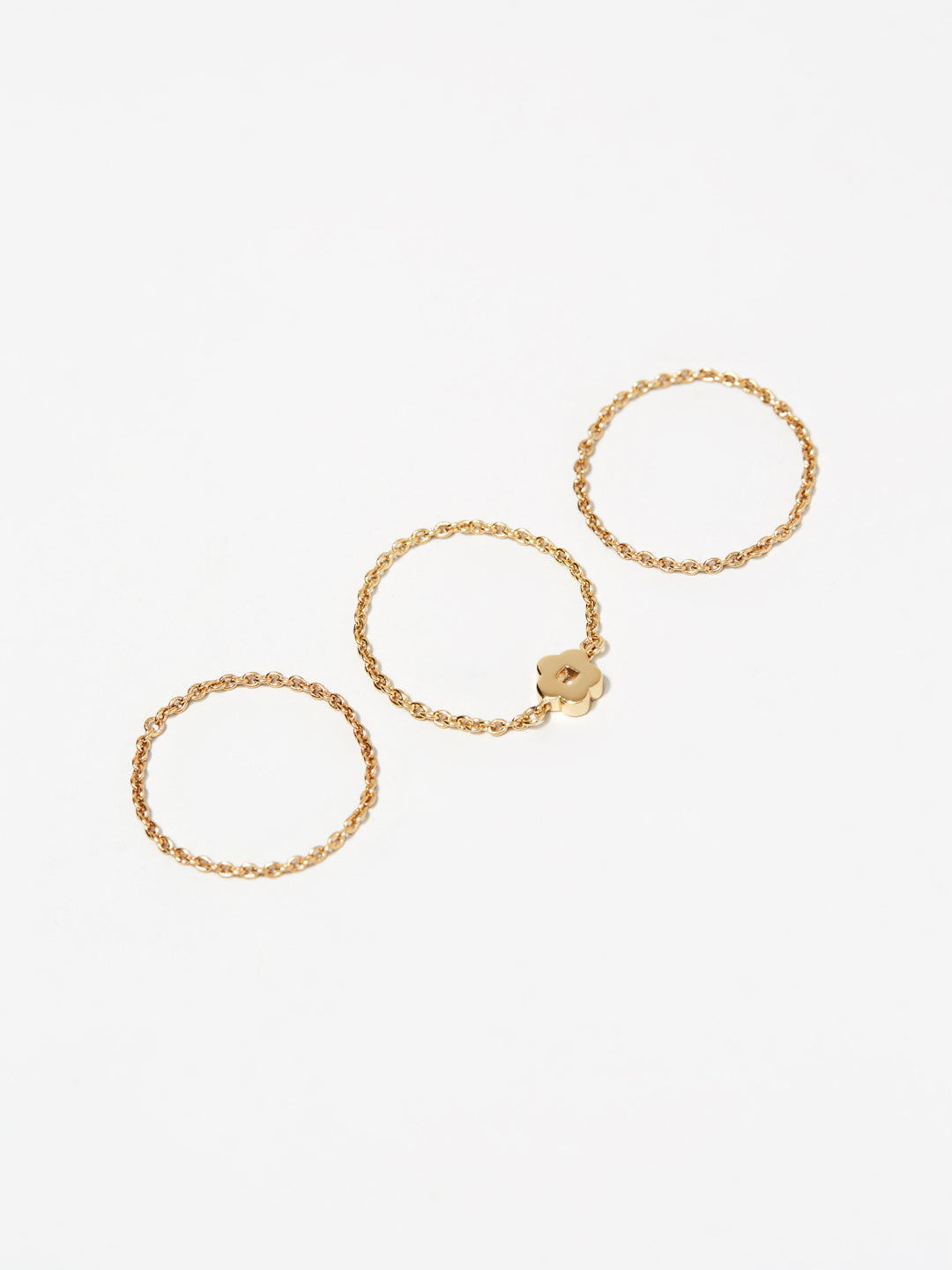Ana Luisa Rings Chain Rings Stacking Chain Rings Aki Set Gold