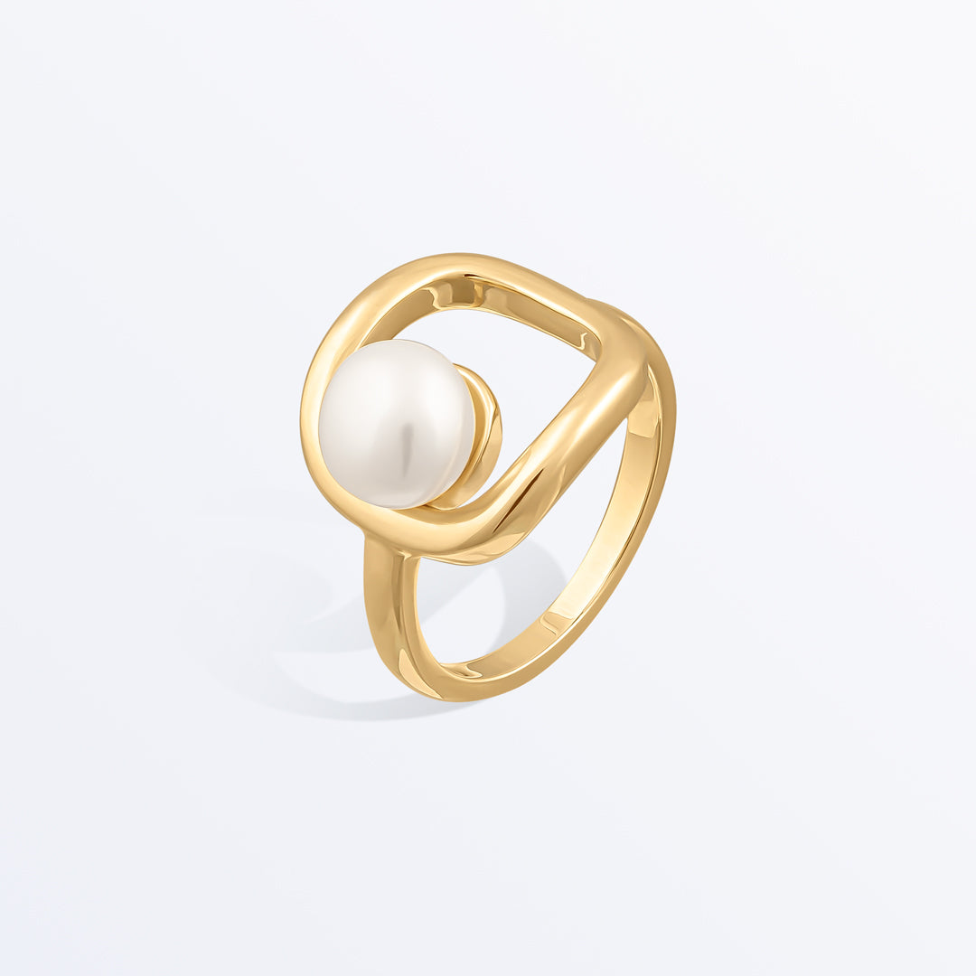 Ana Luisa Rings Gemstone Rings Pearl Ring Eve Gold