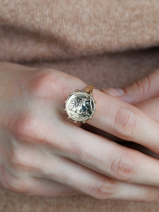 Ana Luisa Rings Signet Rings Napoleon Coin Gold