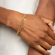Ana Luisa Bracelets Chain Bracelets Virginia Layered Gold