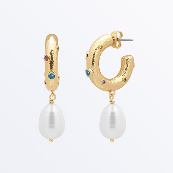 Ana Luisa Earrigns Pearl Earrings Pearl Drop Earrings Alba Gold