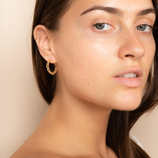 Ana Luisa Earrings Hoop Earrings Chain Hoop Earrings Rue