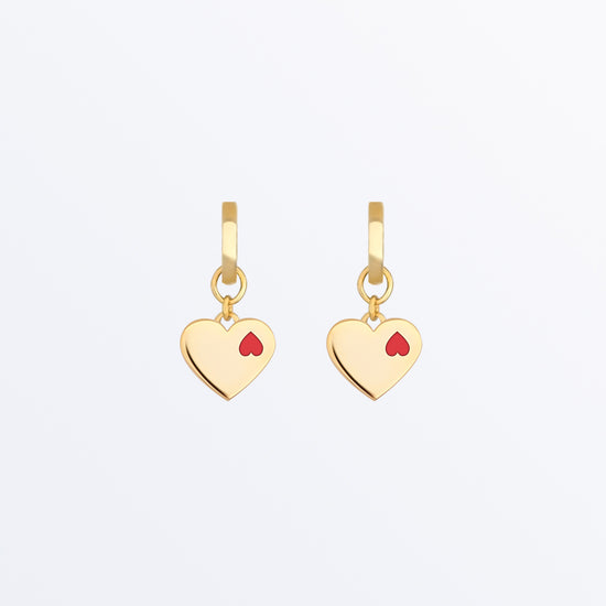 Ana Luisa Earrings Hoop Earrings Double Heart Hoop Earrings Maha Gold