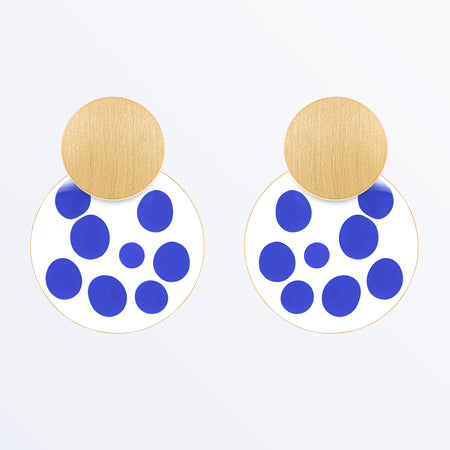Ana Luisa Earrings Hoop Earrings Kinoko Enamel Gold Blue